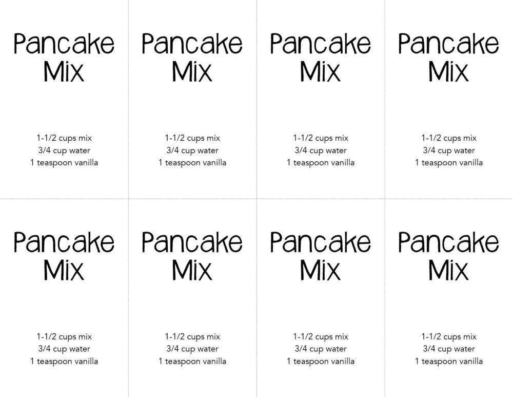 printable pancake label