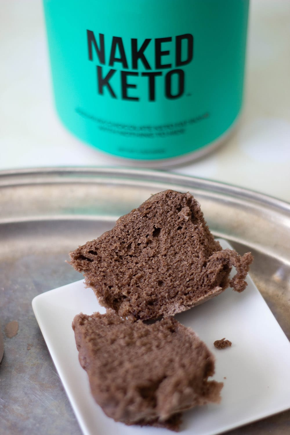 sliced keto cake