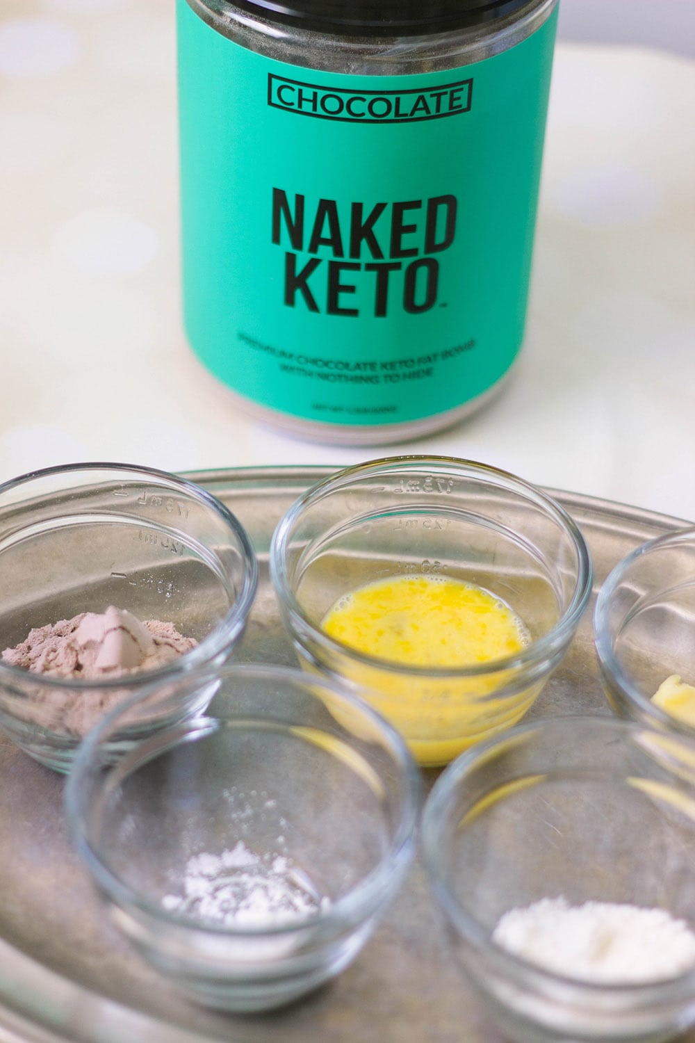 ingredients for keto mug cake