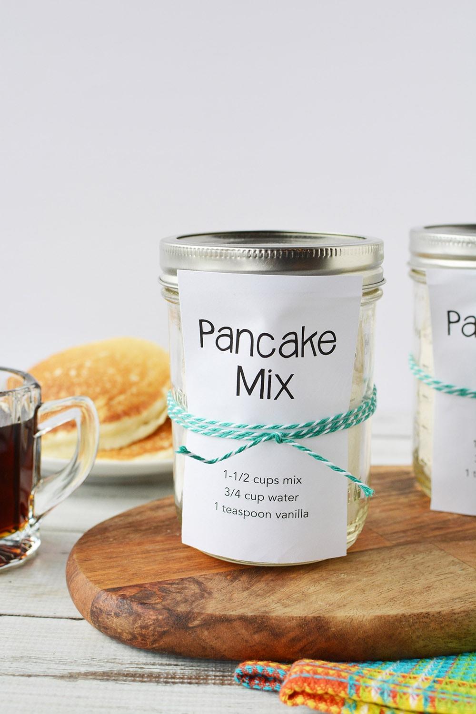 jar of basic pancake mix