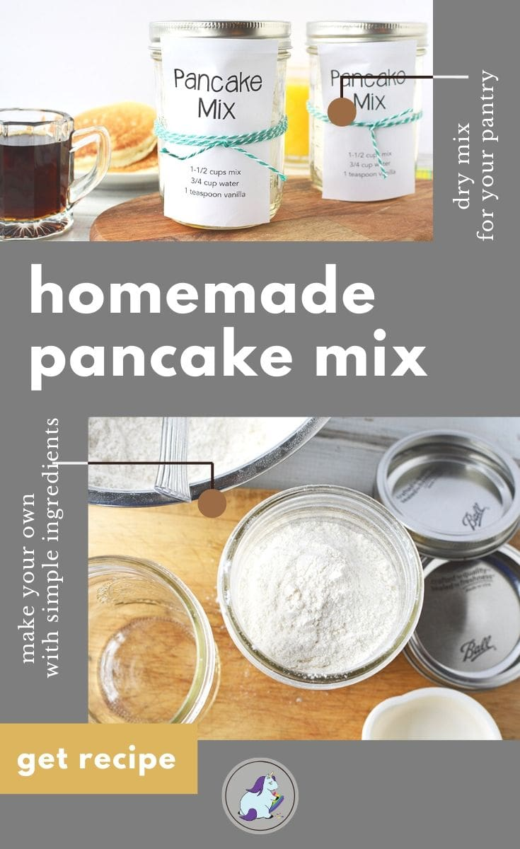 pantry pancake mix in a jar and dry ingredients in bowls