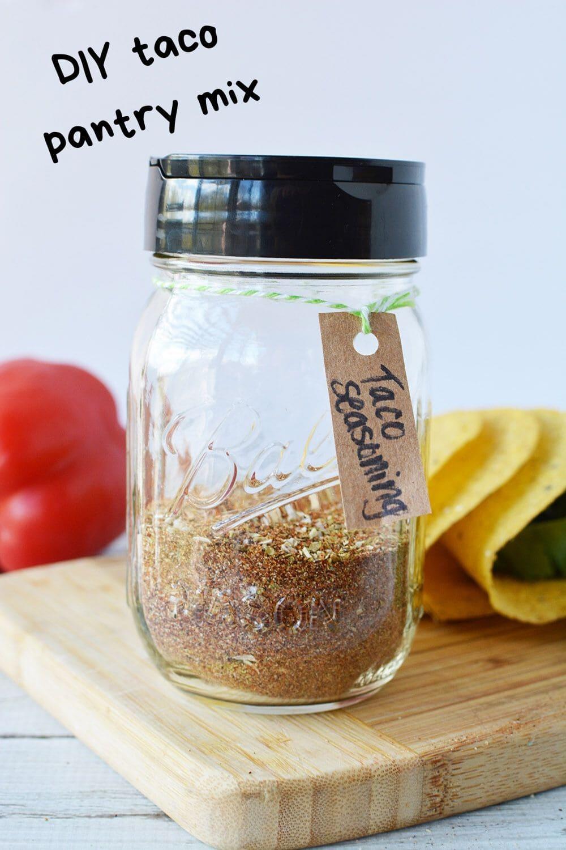 jar of taco seasoning on board