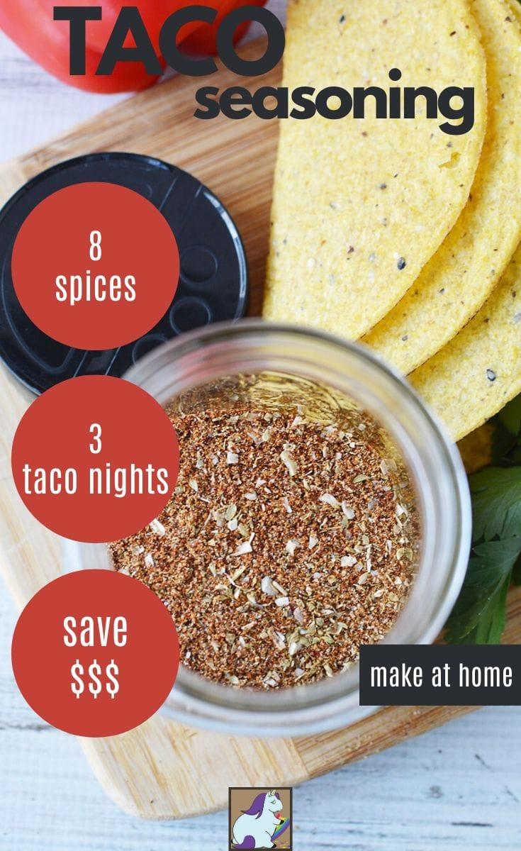 overhead shot of taco seasoning