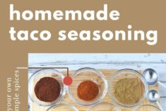 ingredients for homemade taco seasoning