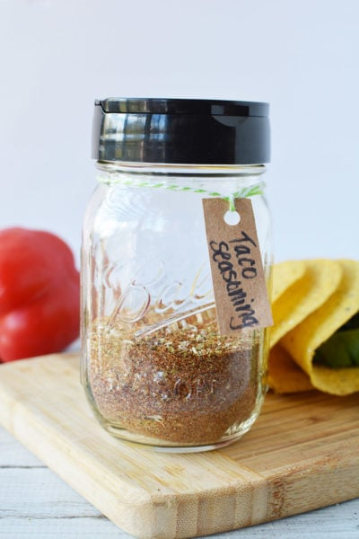 jar of taco seasoning mix