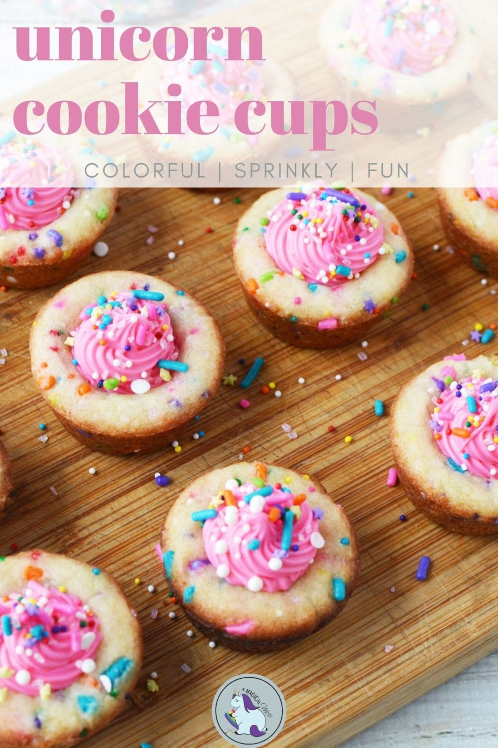 cookies with pink filling on a board