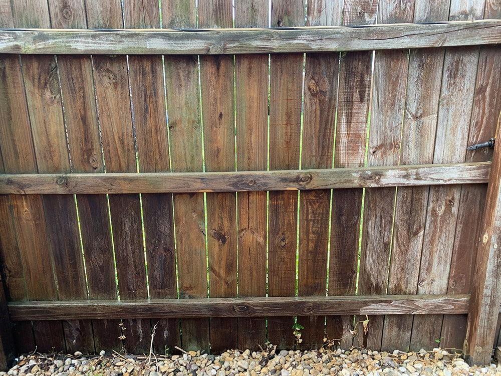 power washing fence
