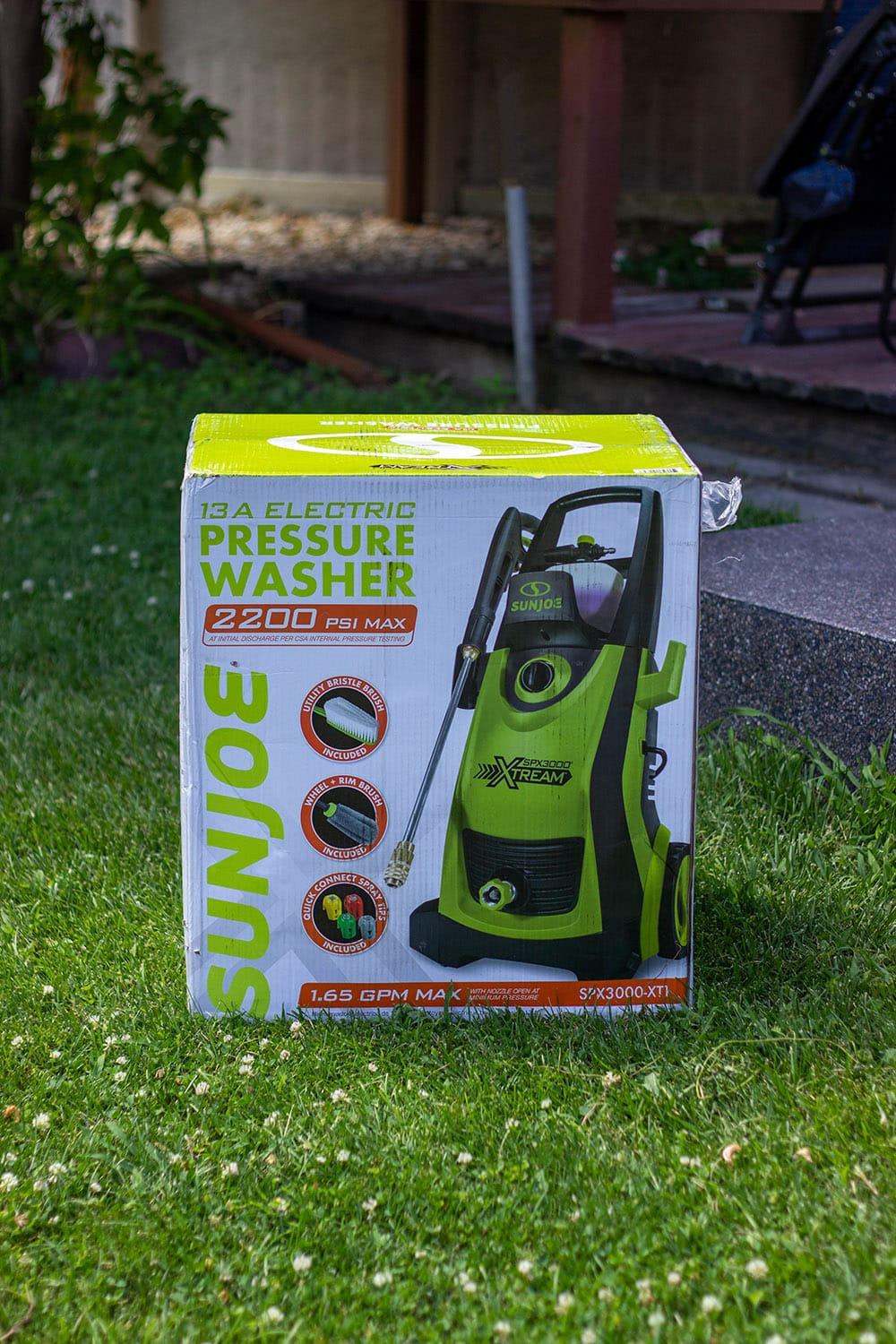 sunjoe power washer in box