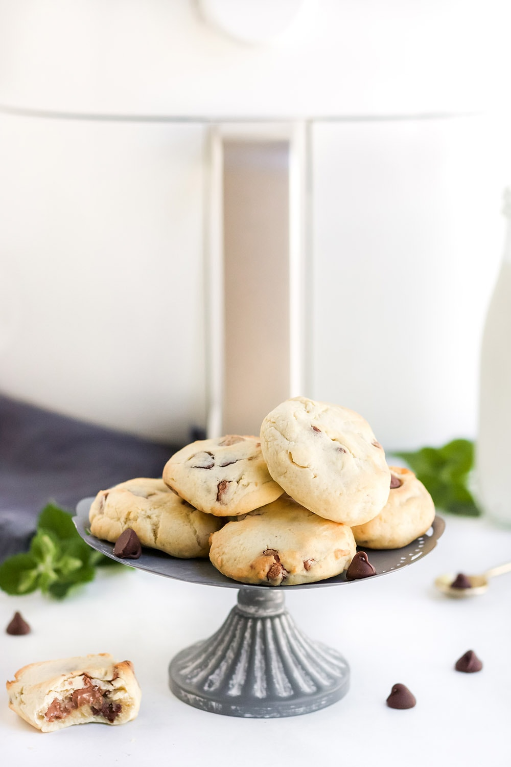 air fried cookies on a stand