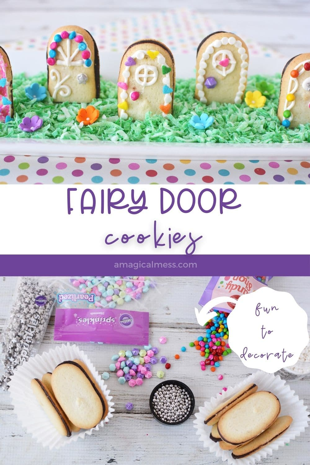 fairy door cookies and ingredients to make them
