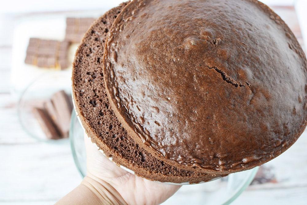sliced chocolate cake rounds