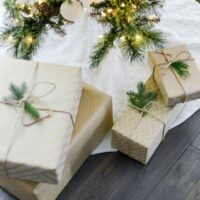 Gifts under a tree