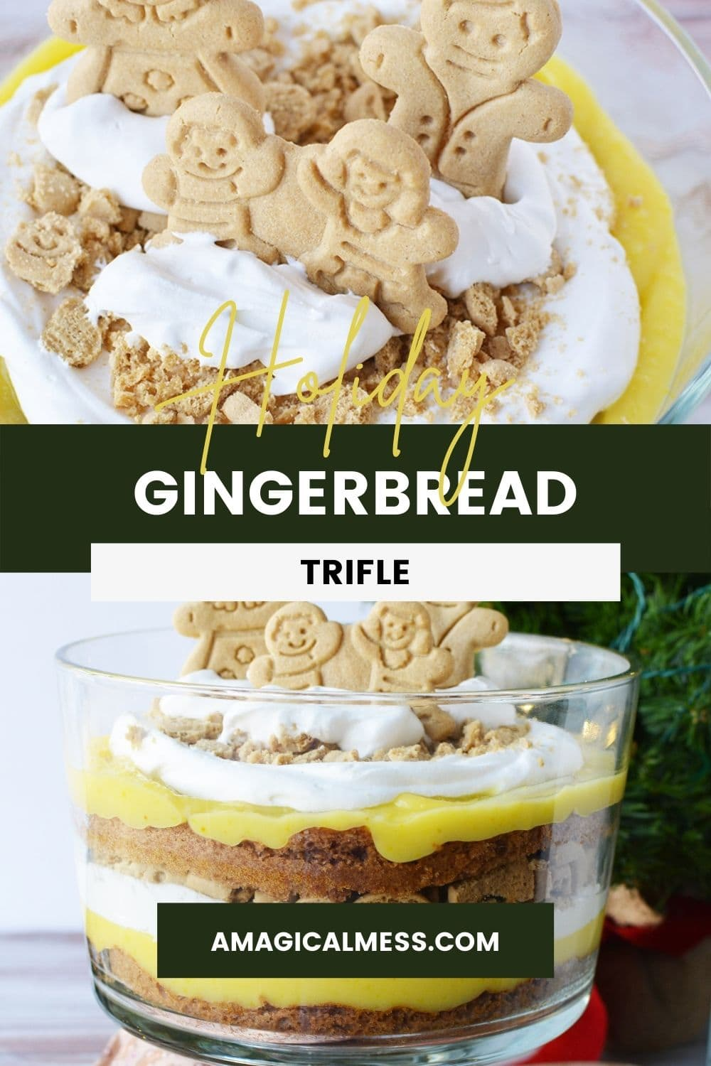 Ginger family cookies in a trifle