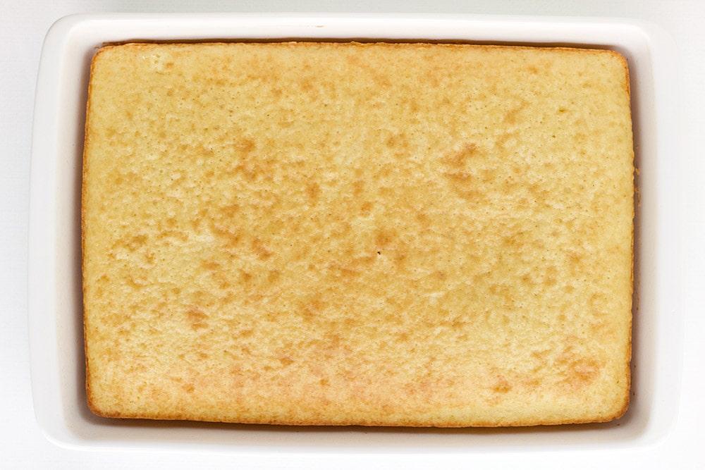 Plain cake in a pan.