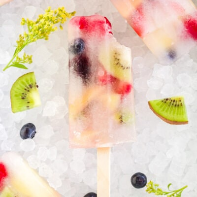 Rainbow Fruit Popsicles