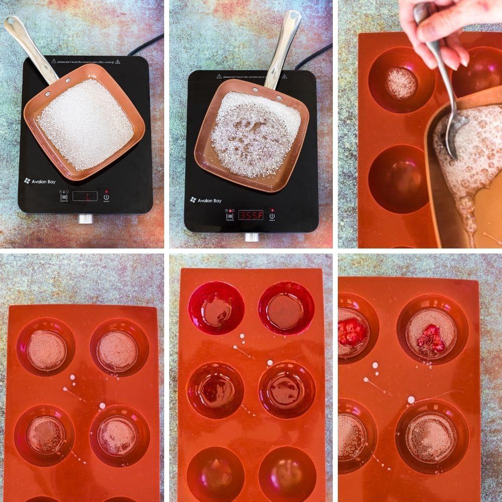 Steps to make homemade hot tea drops