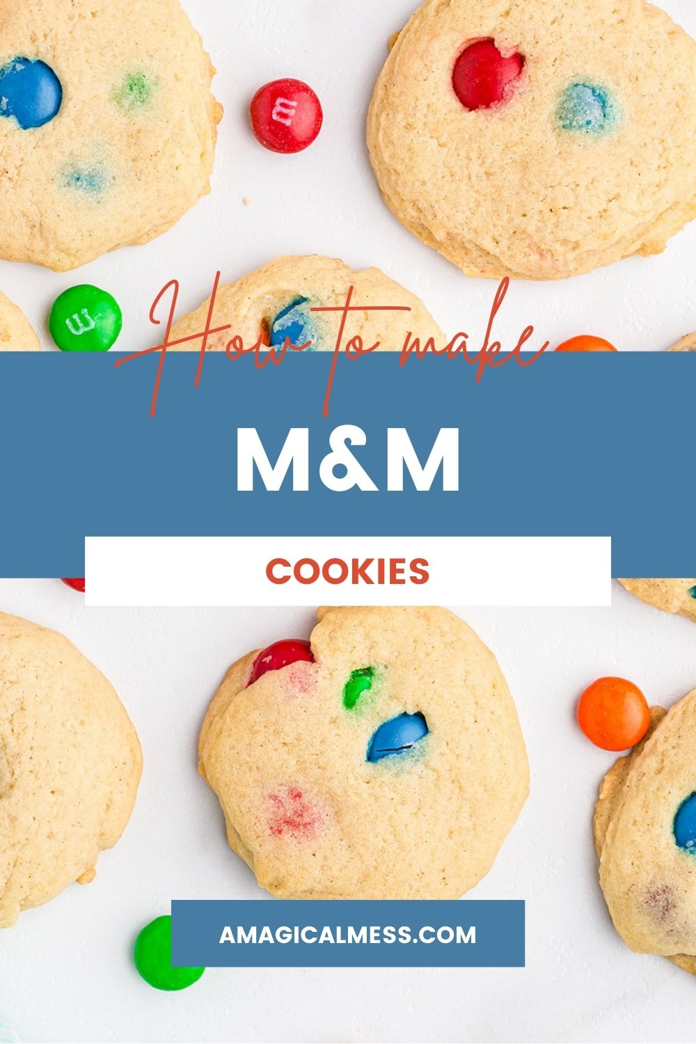 Cookies with M&M candies in them.