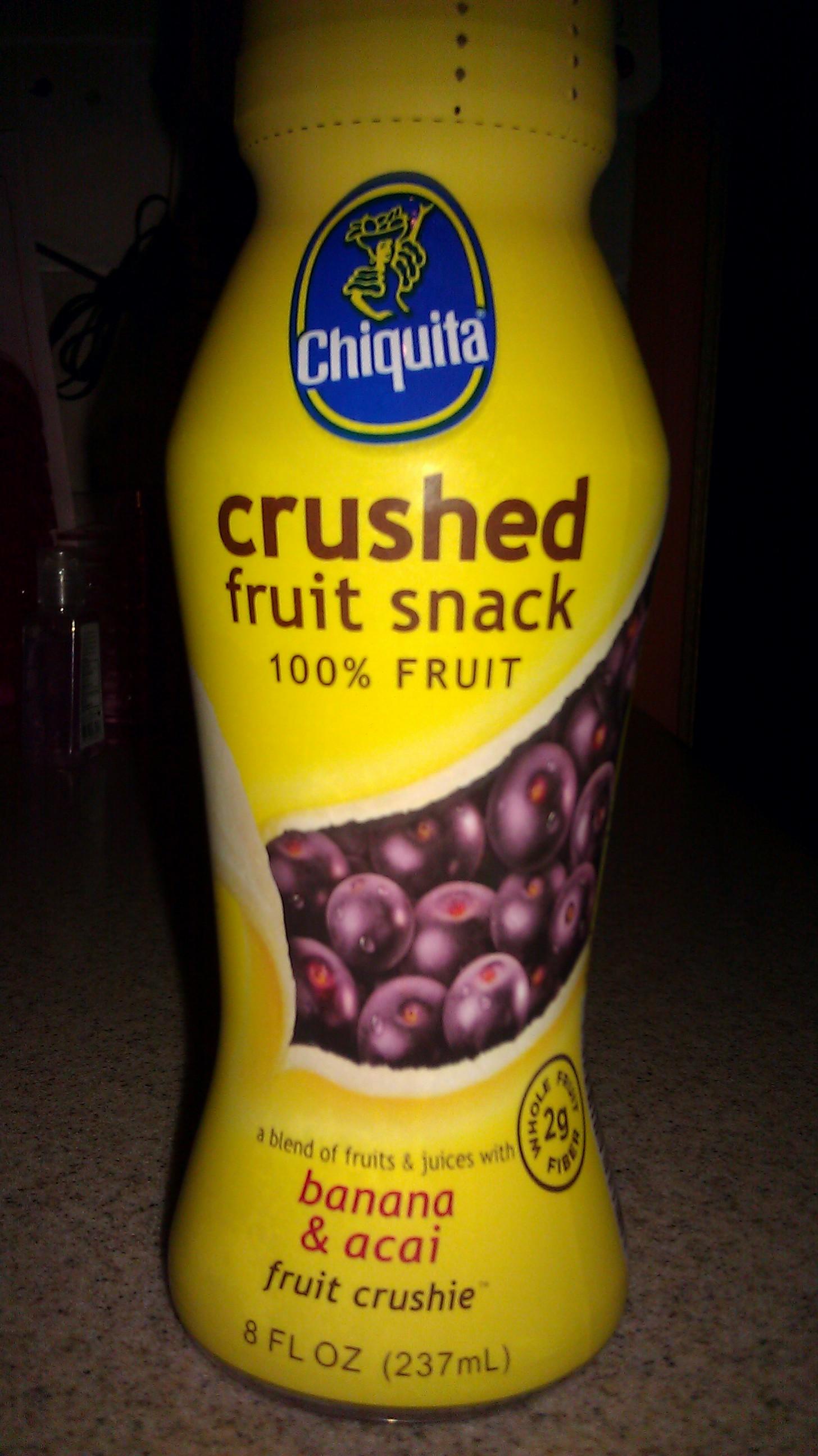 crushed fruit snack